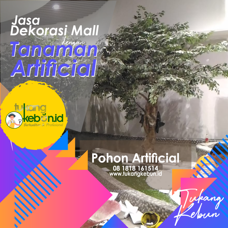 jasa dekorasi Mall pohon artificial